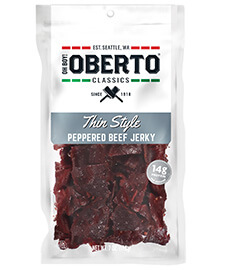 Click here to purchase Peppered Thin Style Beef Jerky