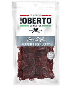 Image of Peppered Thin Style Beef Jerky packaging