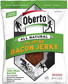 Image of All Natural Jalapeno Bacon Jerky packaging