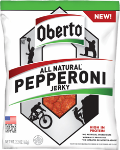 Image of All Natural Pepperoni Jerky packaging