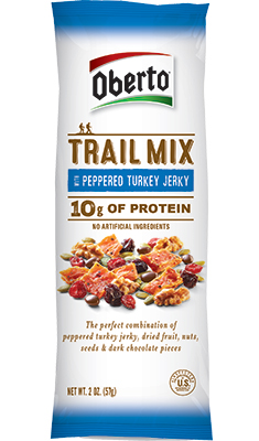 Image of Peppered Turkey Beef Jerky Trail Mix packaging
