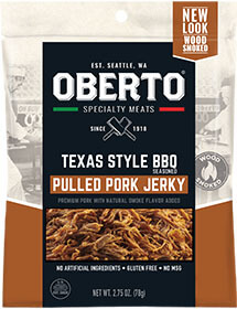 Image of All Natural Pulled Pork Jerky packaging