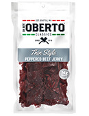 Peppered Thin Style Beef Jerky [obo-133482.jpg] - Click for Details